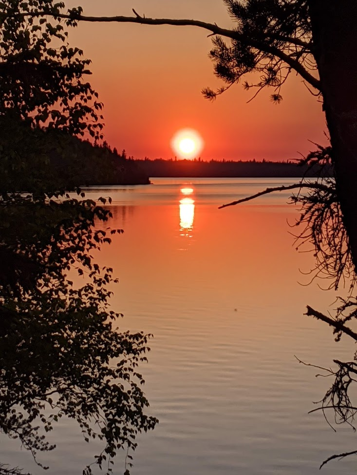 northwest ontario sunset